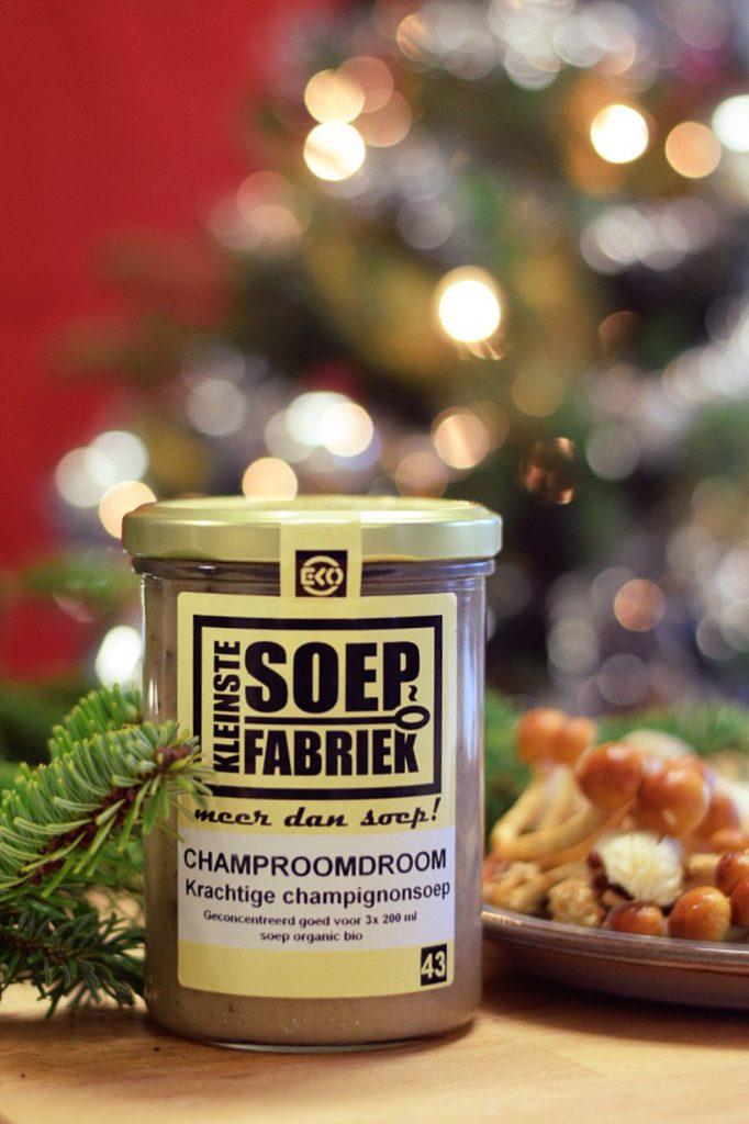Kerst christmas champignonsoep roomsoep biologisch kleinste soepfabriek vegetarisch feestdagen