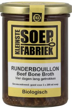 Kleinstesoepfabriek Soepfabriek Biologisch Bio Soep Runderbouillon Rundersoep Bouillon Bone broth