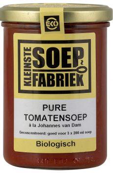 BSOK300 Pure Tomatensoep Johannes van Dam Biologisch Vegetarisch Veganistisch Bio Soepfabriek